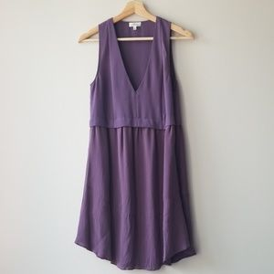 Aritzia Sz 2 Purple Sleeveless Silk Skirt Dress